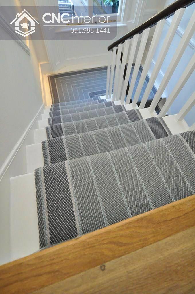 Thảm vải cầu thang đơn giản