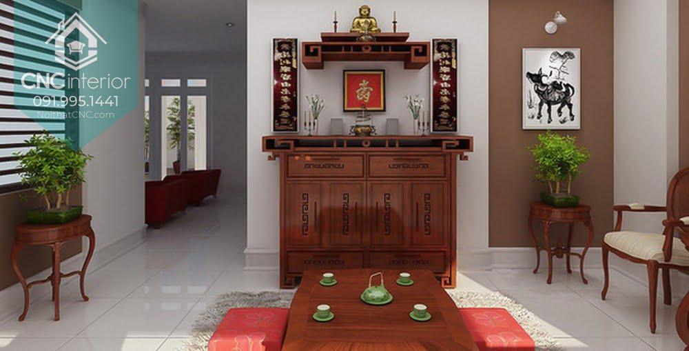 Thiết kế phòng khách có bàn thờ 1