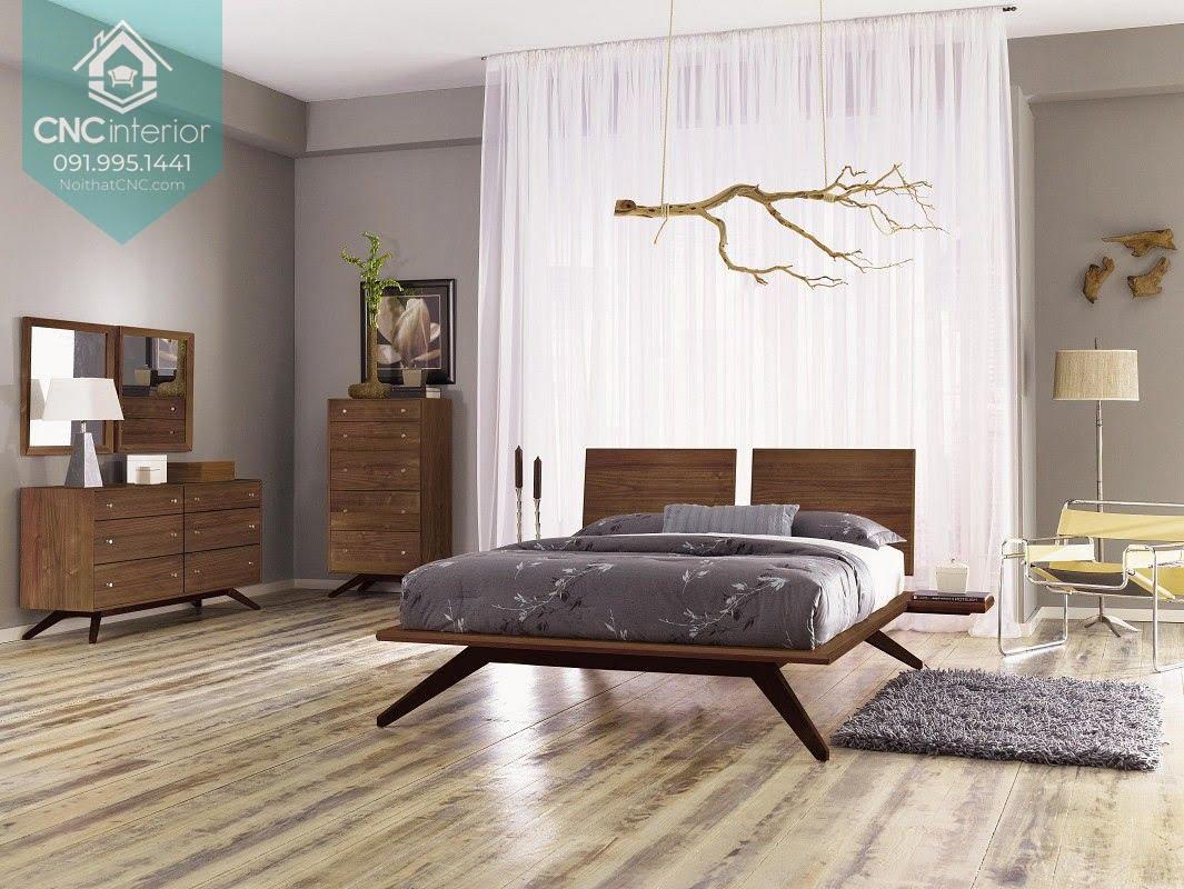 Phòng ngủ gỗ óc chó 11