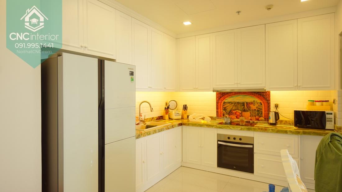 Kích thước tủ bếp treo tường hoàn hảo với từng không gian khi đặt hàng tại Nội thất CNC