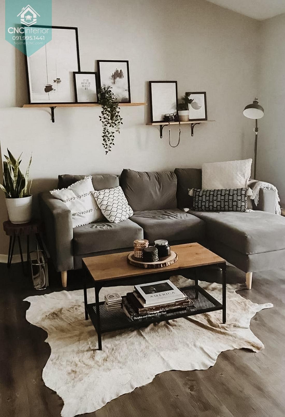 Sofa phòng khách chung cư 3