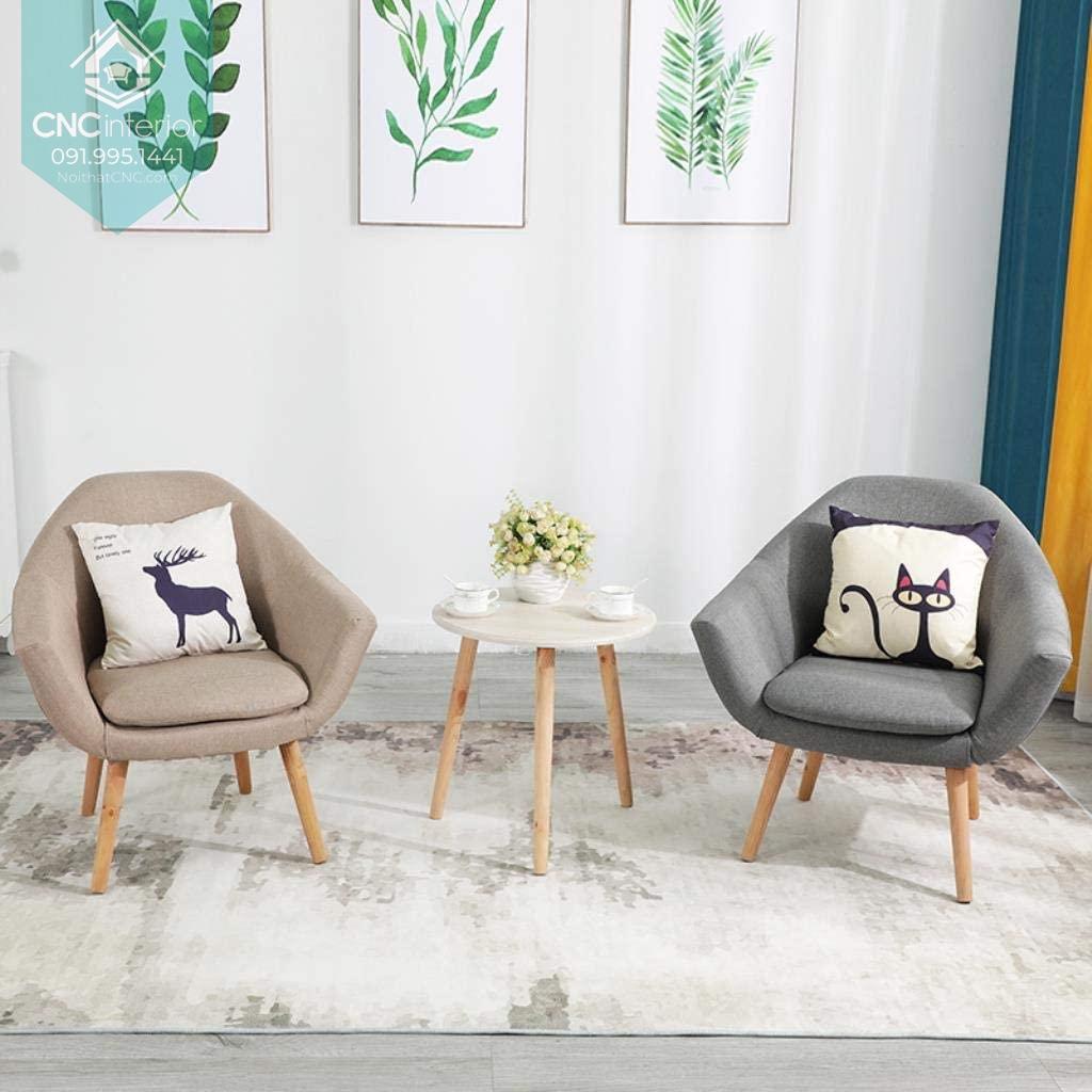 Bàn ghế phòng khách với thiết kế đơn giản tinh tế