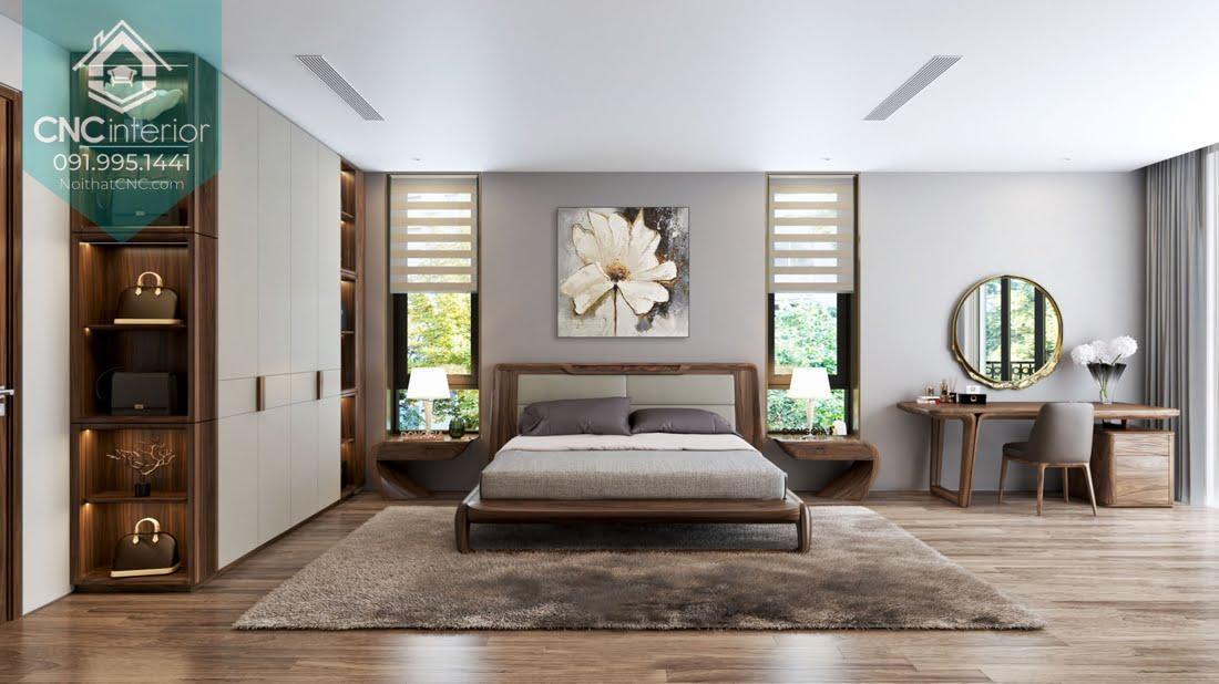 Phòng ngủ gỗ óc chó 2
