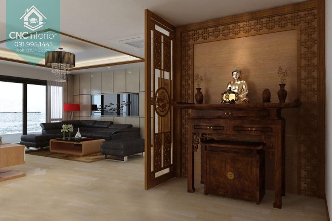 Thiết kế bàn thờ trong phòng khách 2