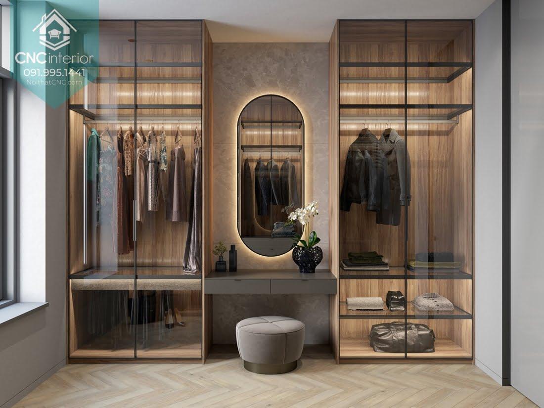 Tủ quần áo kết hợp bàn trang điểm 3