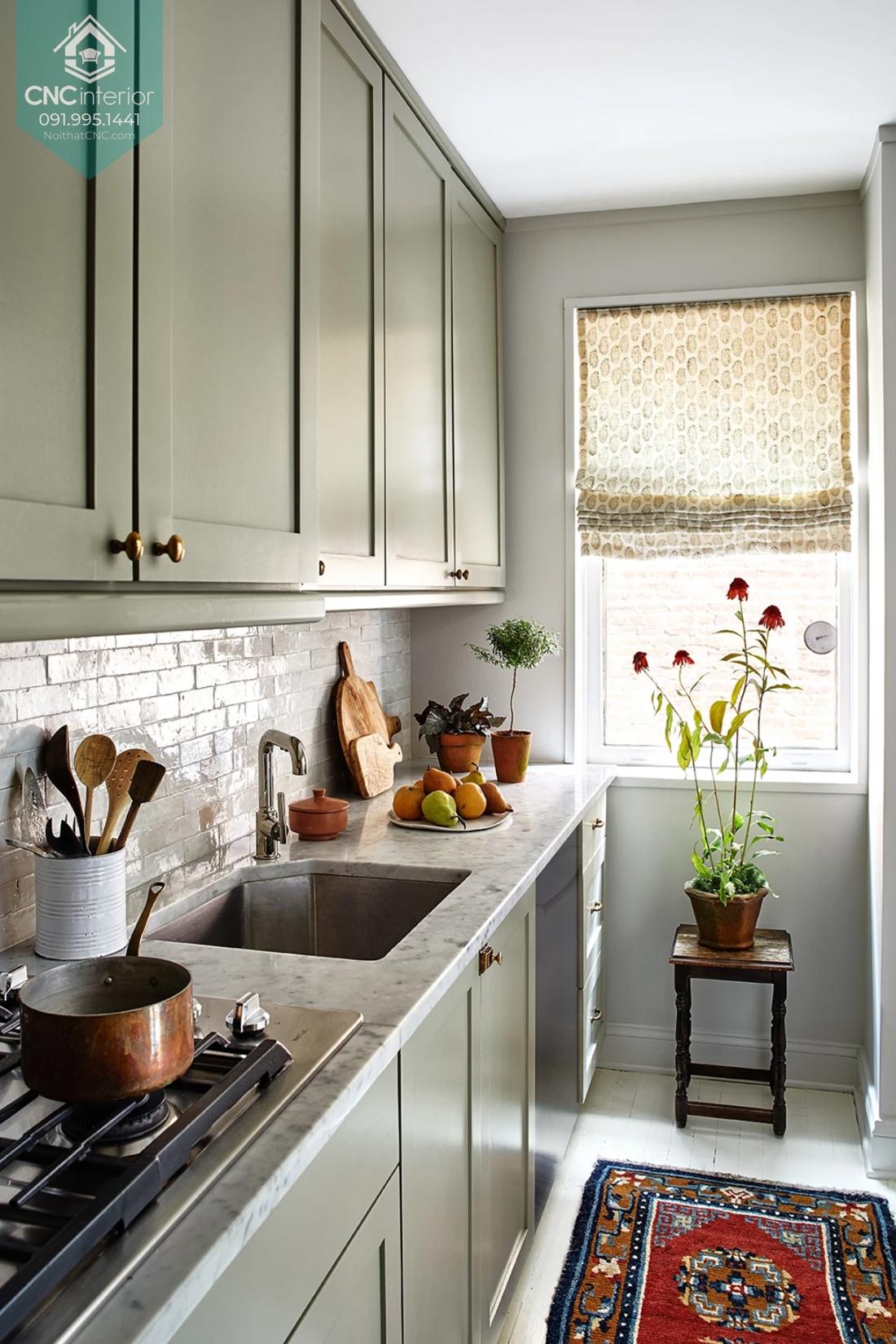 Diện tích phòng bếp bao nhiêu là hợp lý