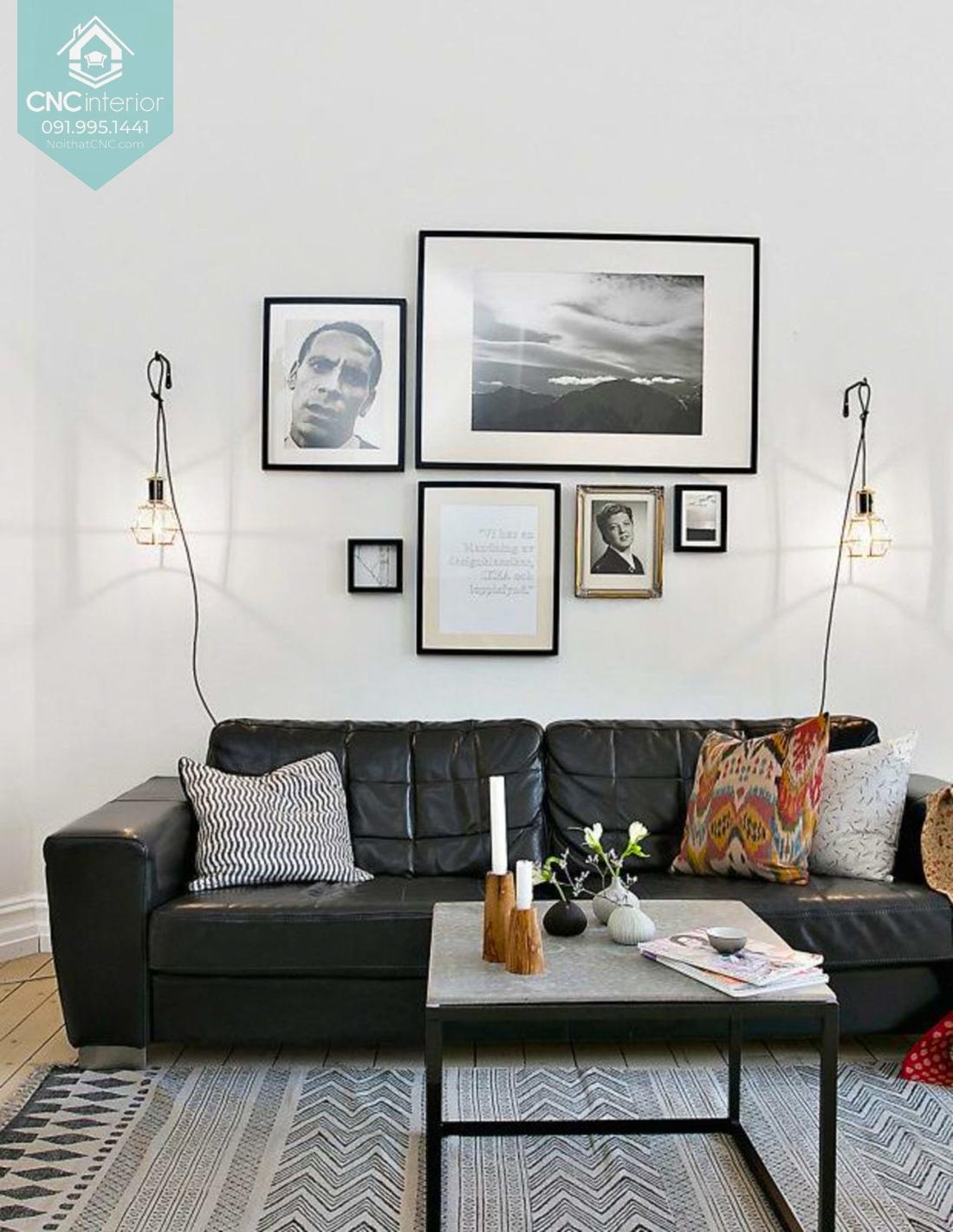 Bàn ghế sofa phòng khách chung cư