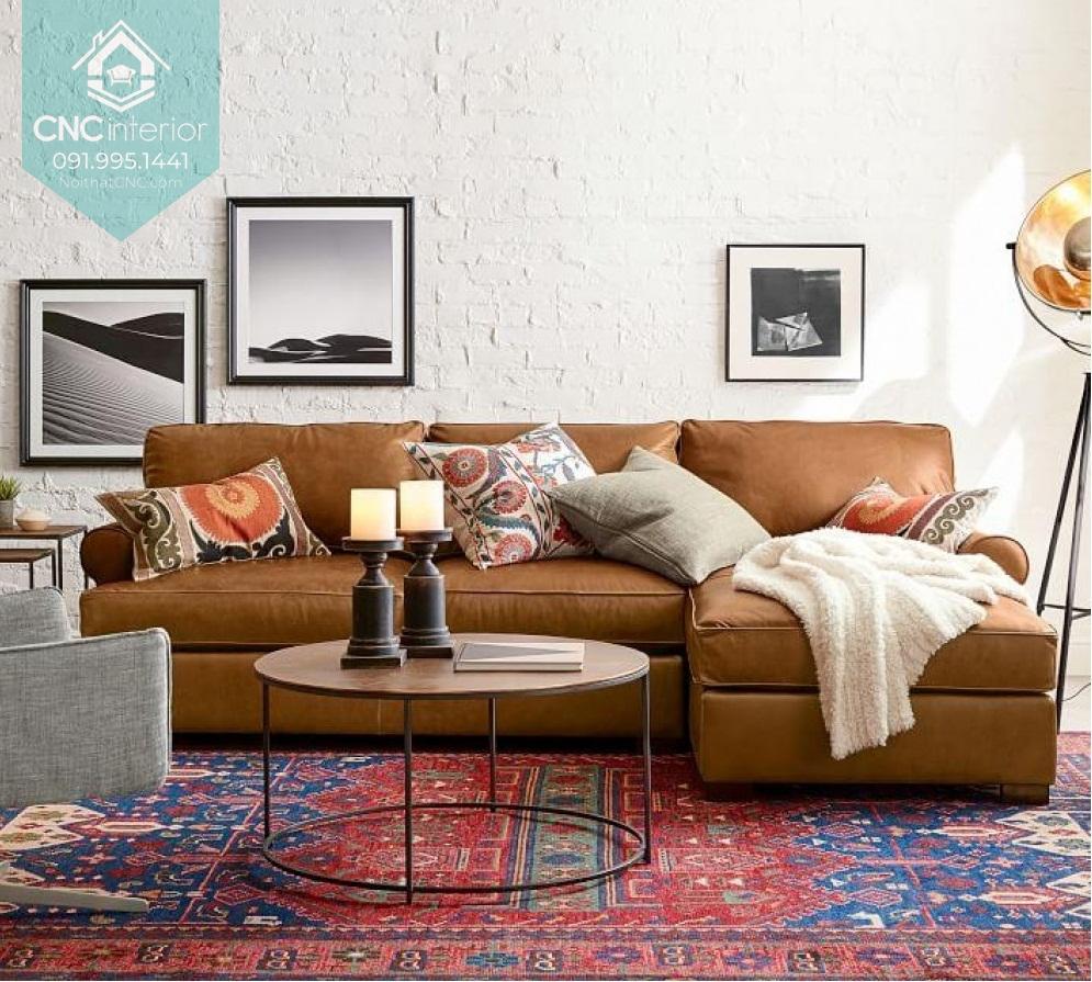 Bàn ghế sofa phòng khách chung cư 1