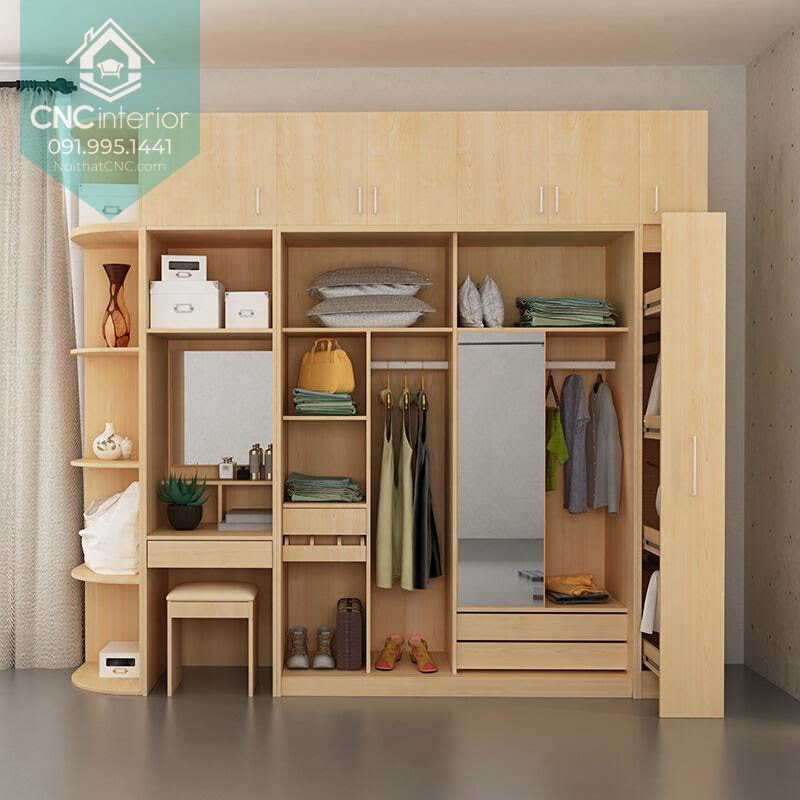 Tủ quần áo kết hợp bàn trang điểm 7