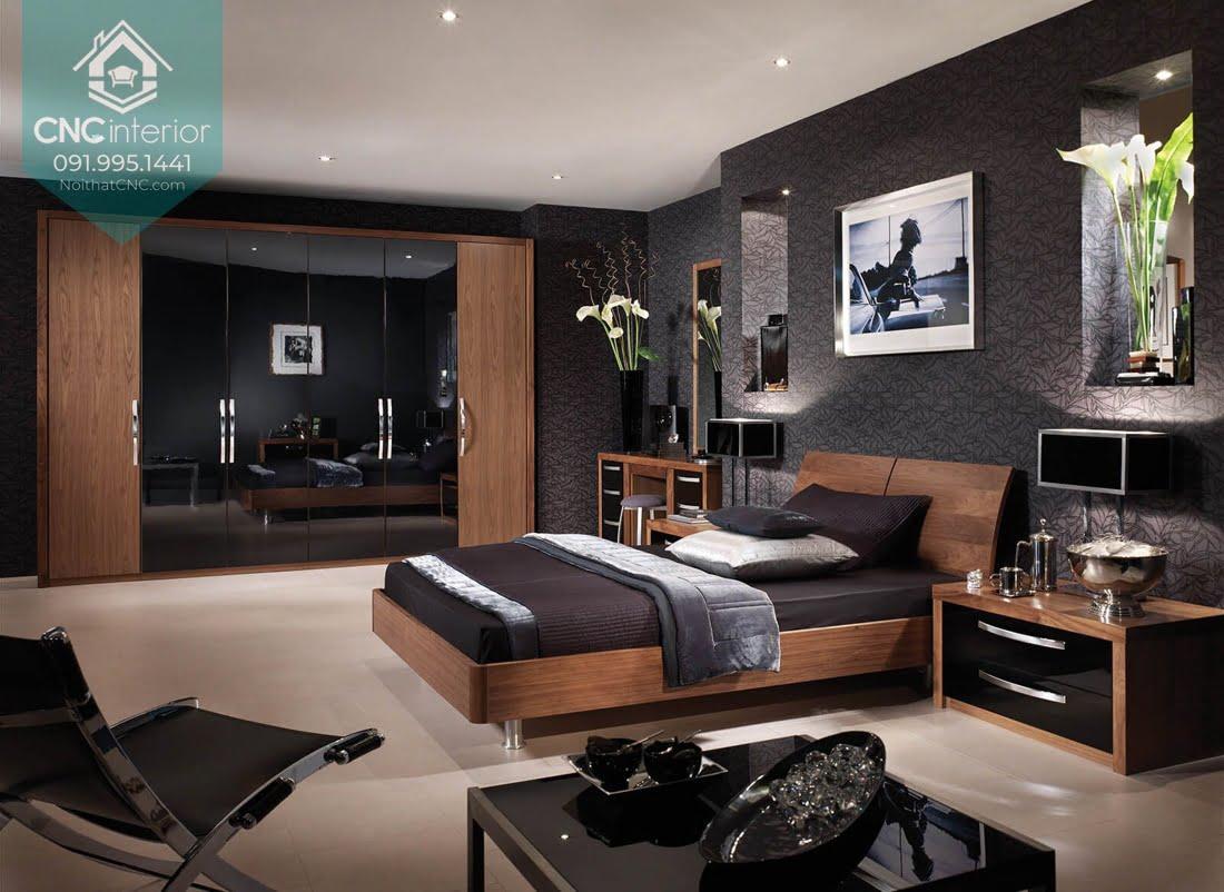 Phòng ngủ gỗ óc chó 8
