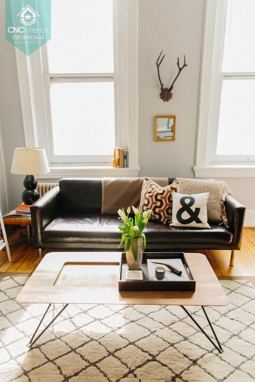 Bàn ghế sofa phòng khách chung cư 2