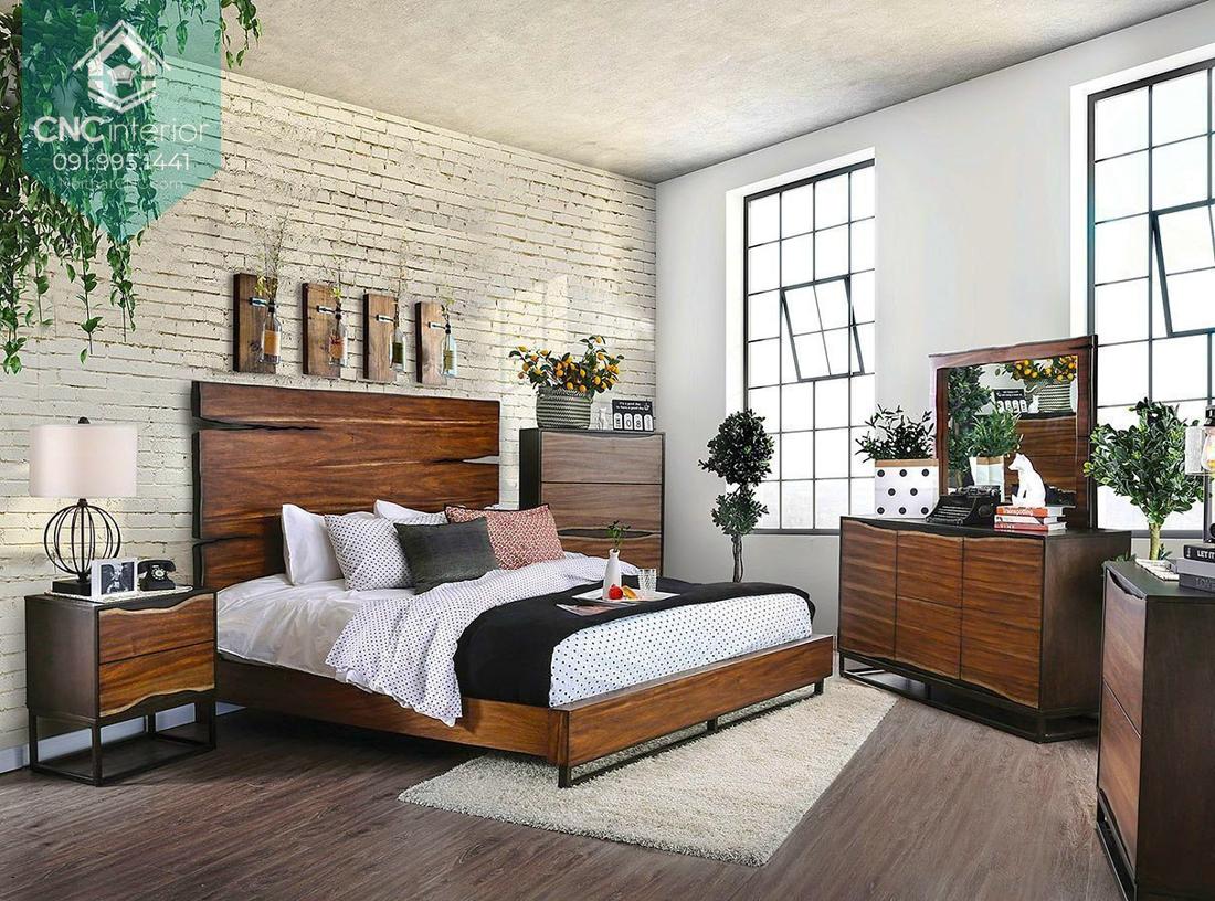 Phòng ngủ gỗ óc chó 9
