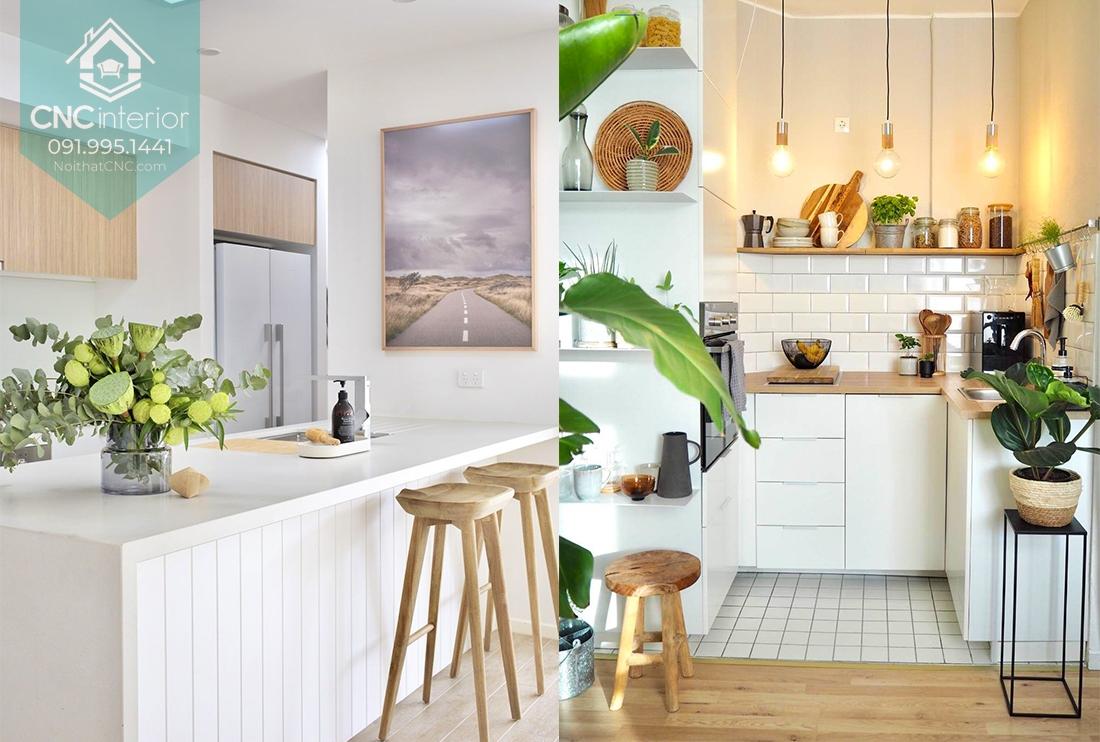Các kiểu trang trí phòng bếp không thể thiếu hương vị của thiên nhiên