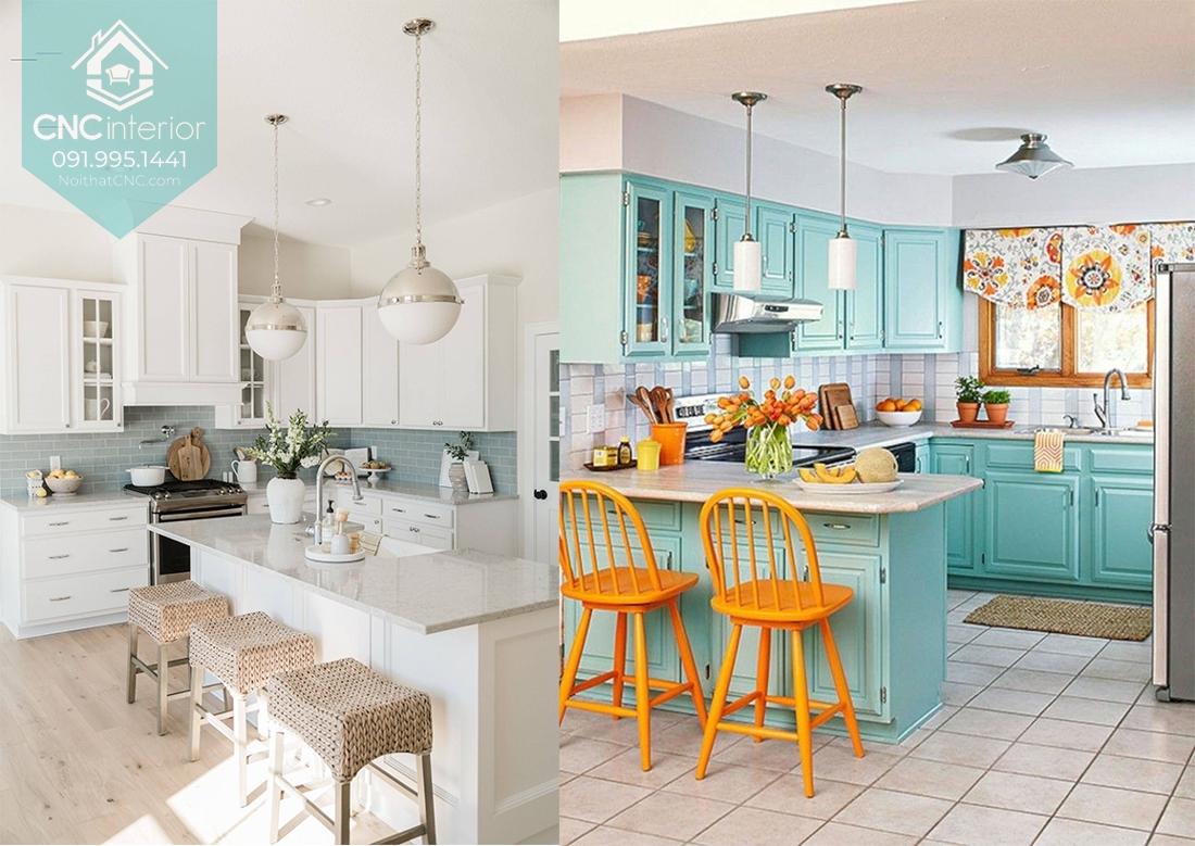 Các kiểu trang trí phòng bếp