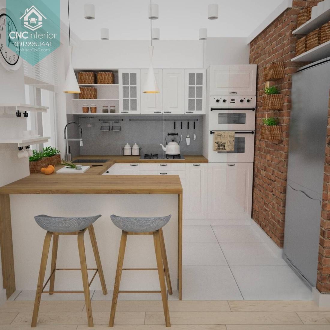 Quầy bar ngăn bếp và phòng khách 1
