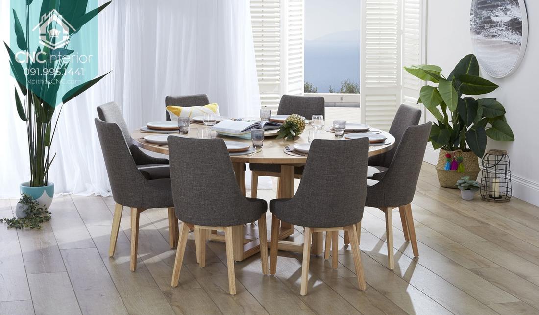 Mẫu bàn ăn phù hợp hoàn hảo trong không gian phòng ăn của gia đình