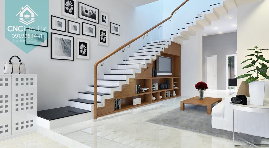 Trang trí gầm cầu thang 1