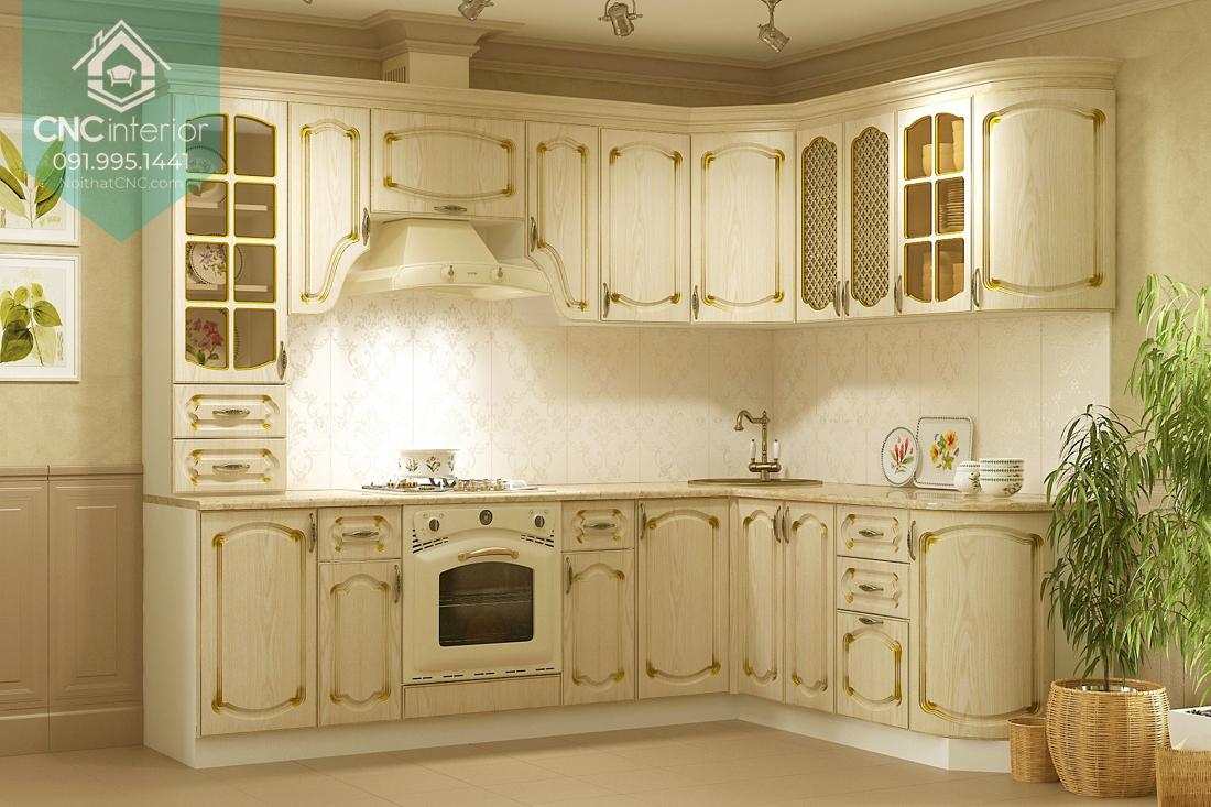 Tủ bếp phong cách tân cổ điển 1