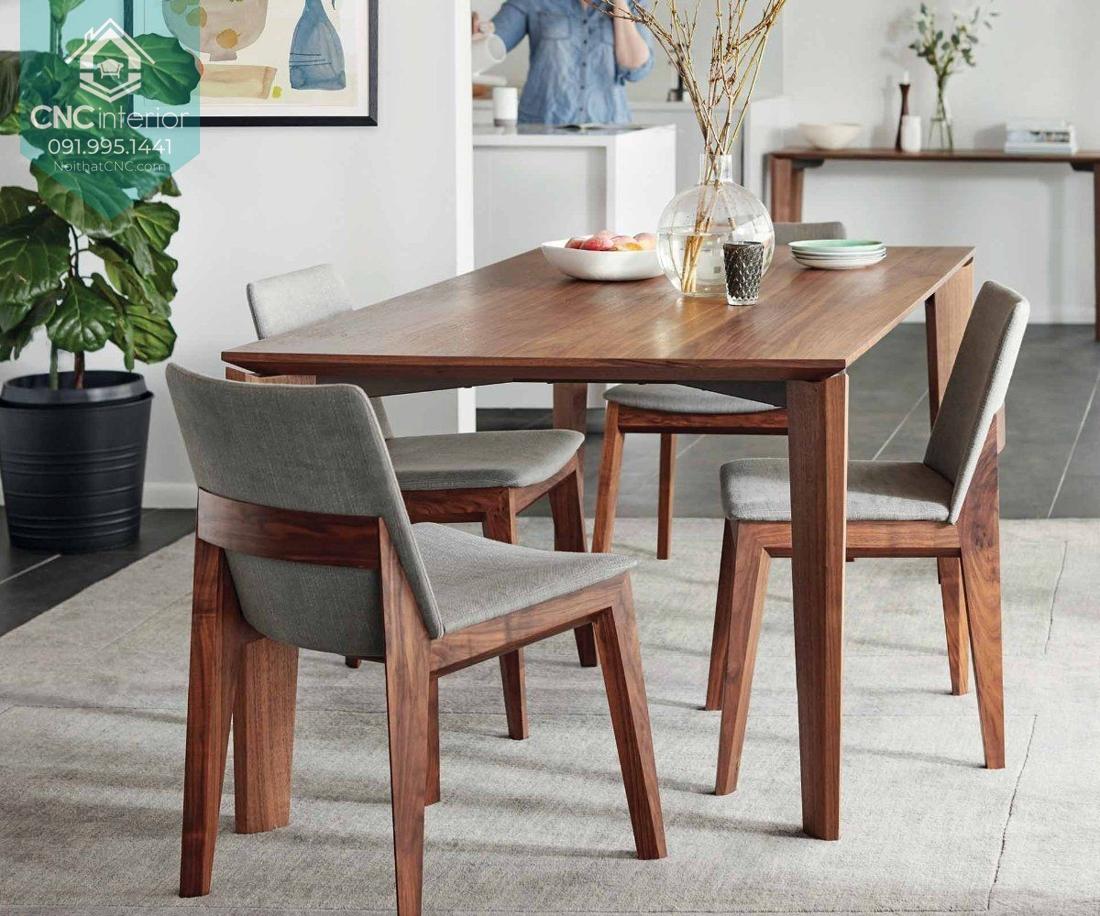 Màu gỗ trầm tăng tính thẩm mỹ trong không gian
