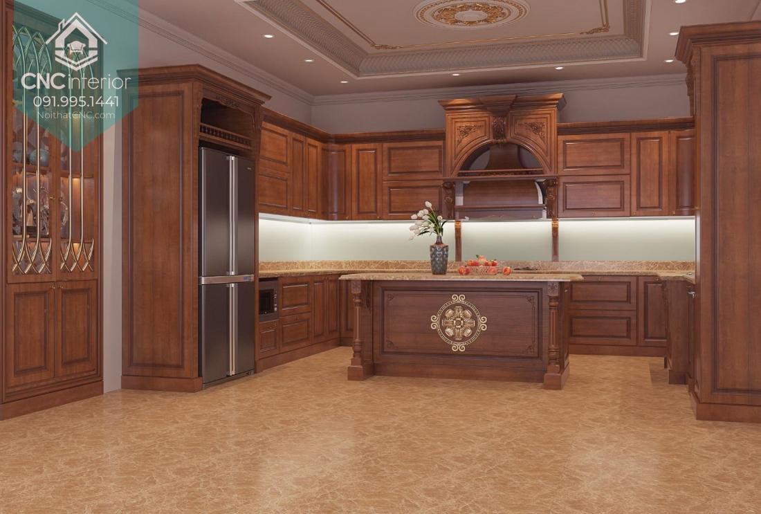 Tủ bếp phong cách tân cổ điển 2