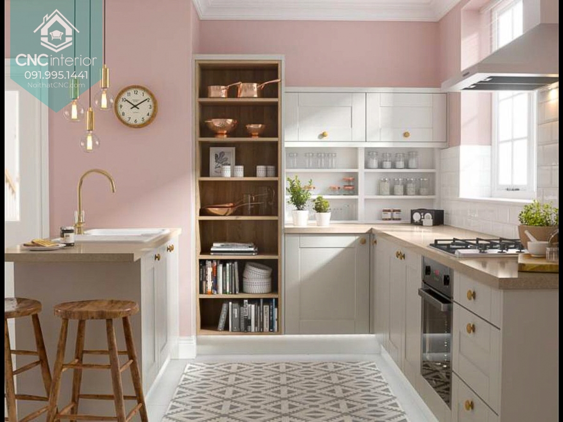 Không gian nấu ăn sáng và thông thoáng hơn với ánh sáng tự nhiên
