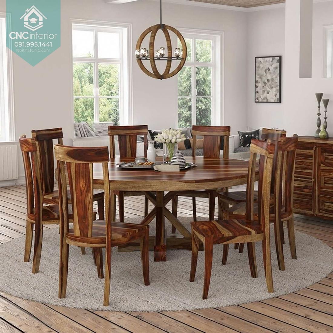 Bộ bàn ăn tròn 3