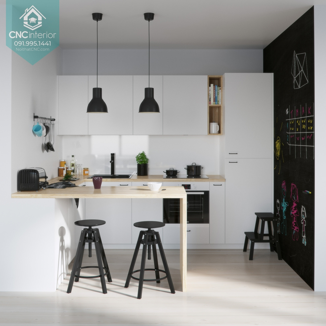Phòng bếp đơn giản đẹp 2