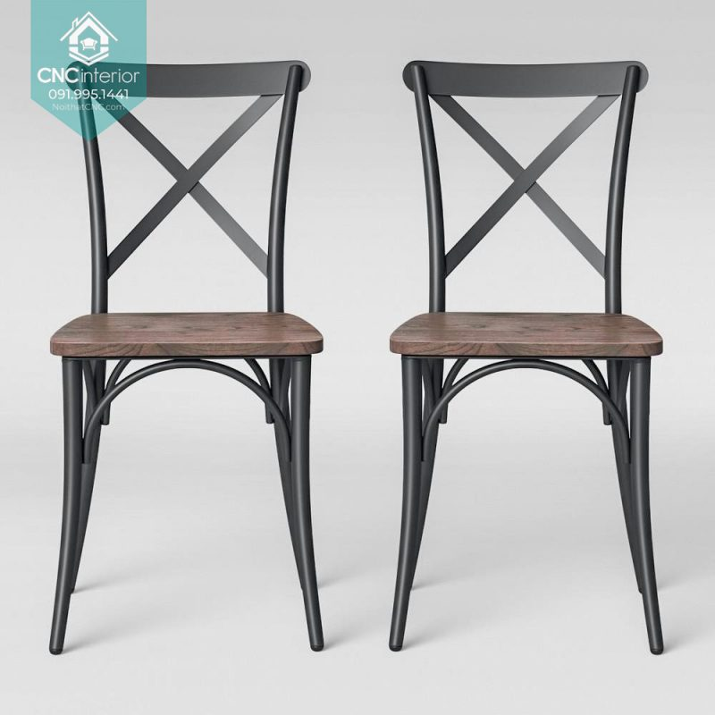 24 Bistro Chair Cross black chair 5