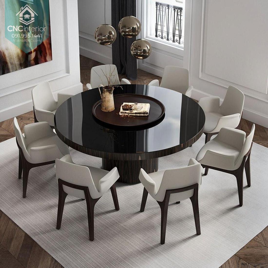 Kích thước bàn ăn tròn 10 người 2