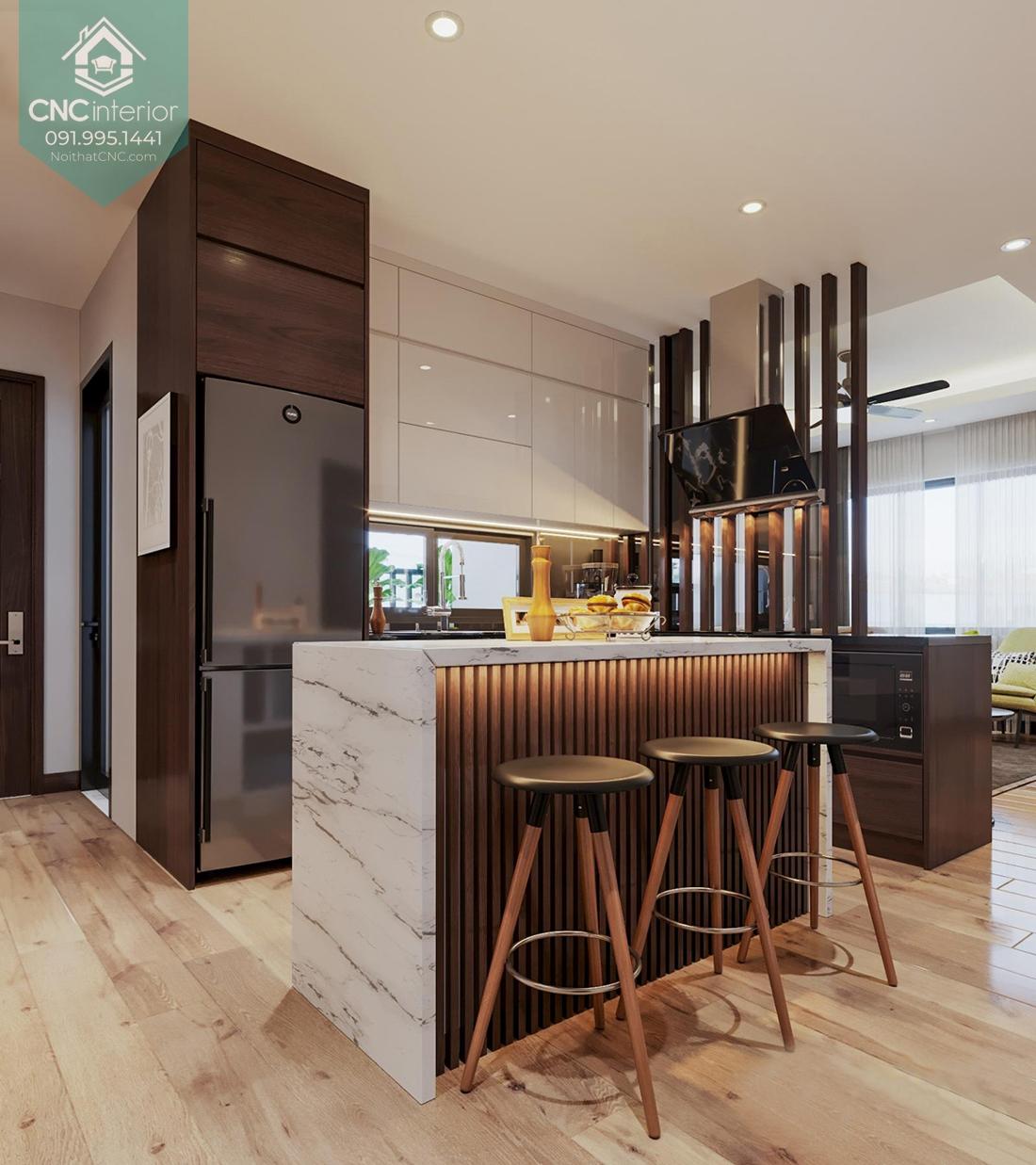 Phòng bếp chung cư 3