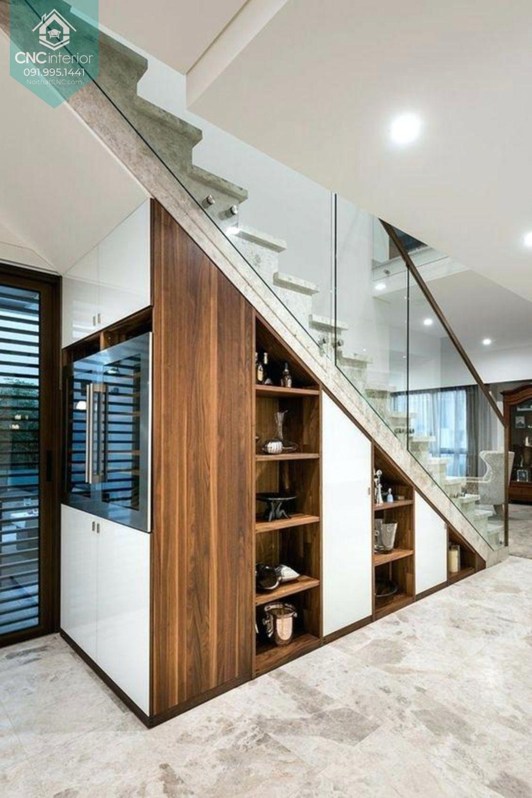 Thiết kế gầm cầu thang đẹp 1