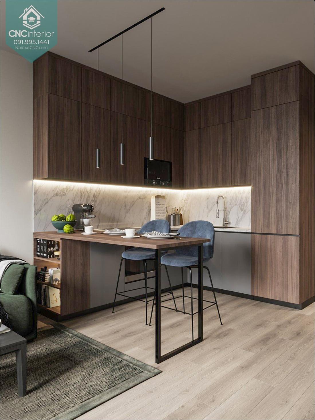 Quầy bar ngăn phòng khách và bếp 1