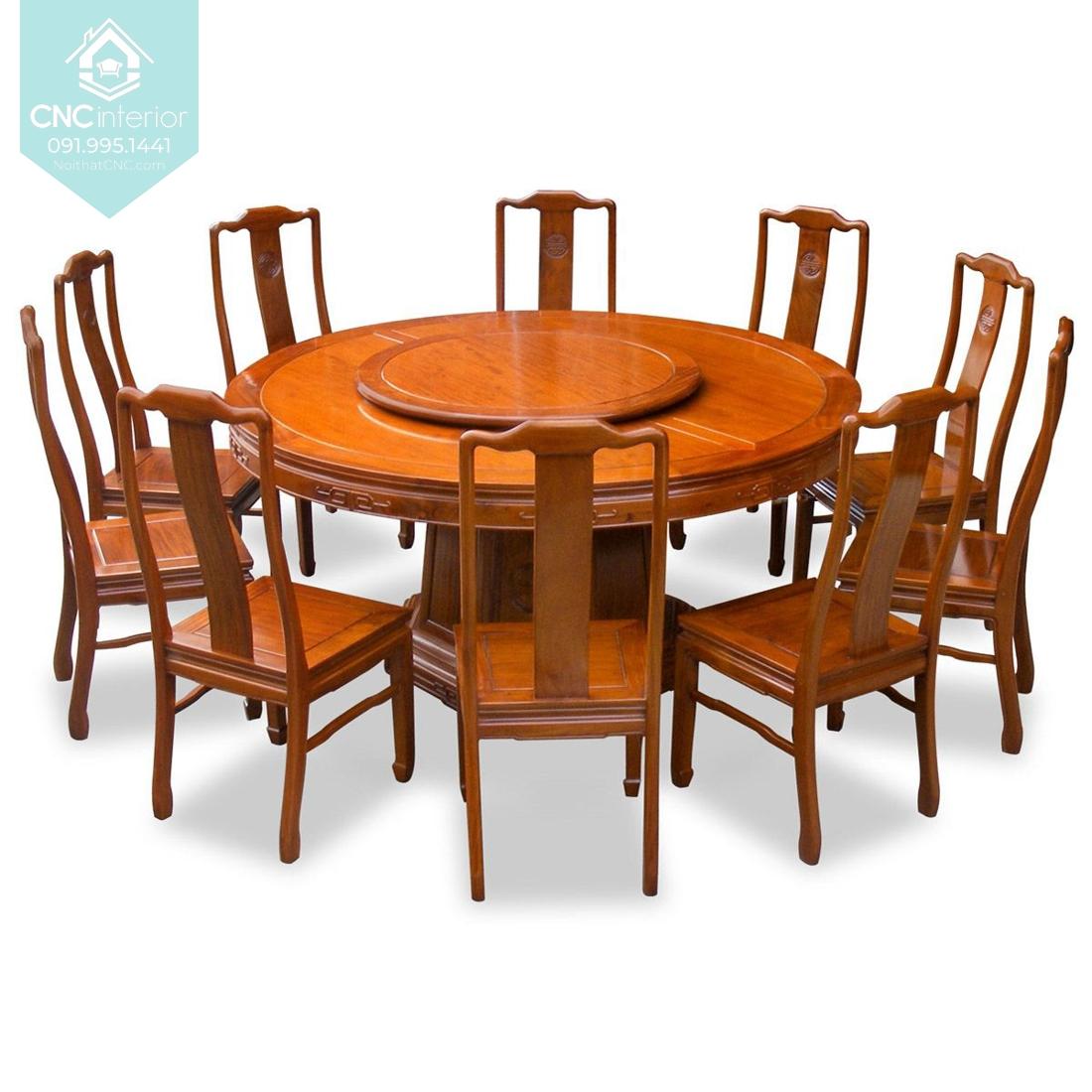 Kích thước bàn ăn tròn 8 người 2