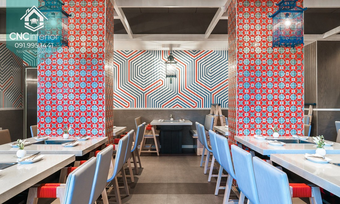 CNC Interior selects a outstanding color scheme for eatery 14