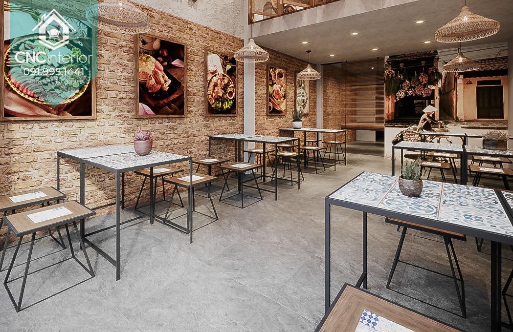 interior of restaurant 21
