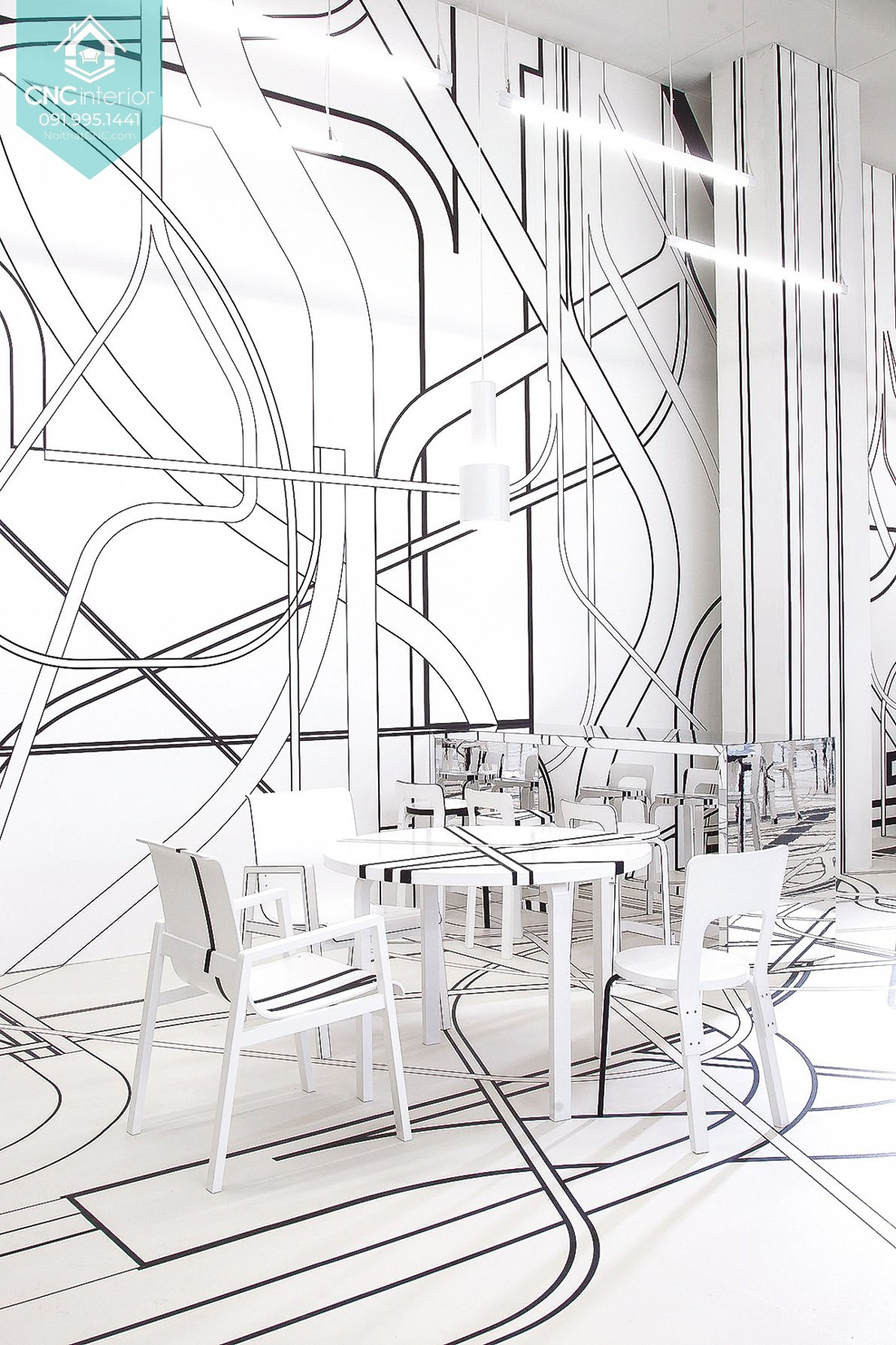 CNC Interior transforms your establishment into an art galery 24