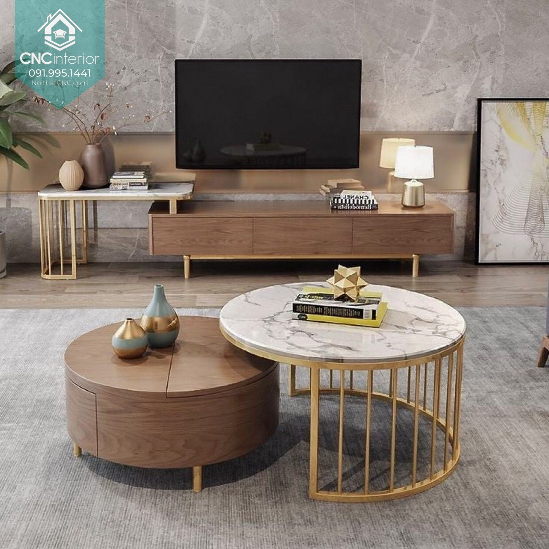 A key focal point in living room set 16