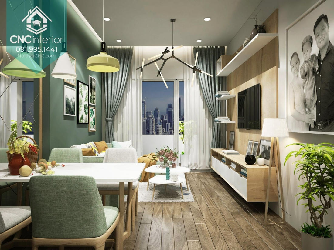 Thiết kế nội thất chung cư giá rẻ mà đẹp 1