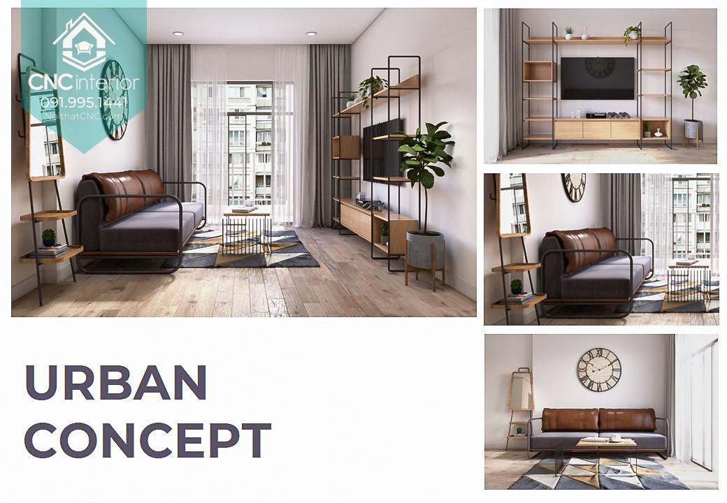 Concept Urban kết hợp gỗ, da và kim loại 23