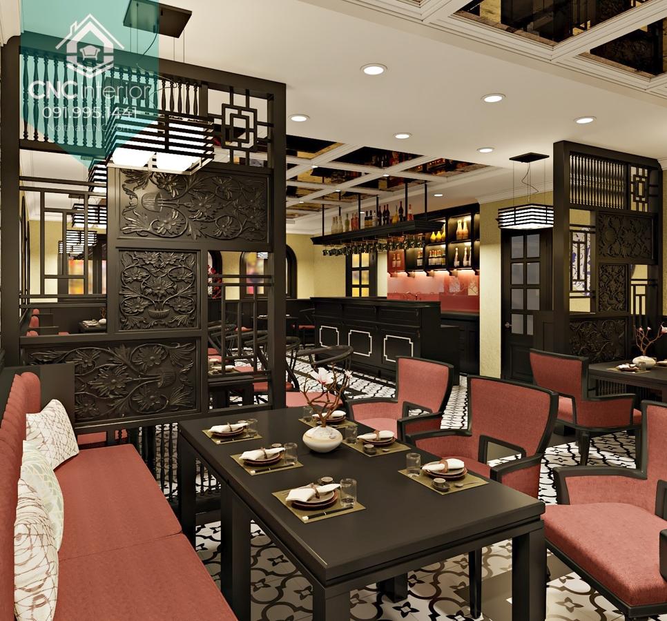 Nhà hàng mang phong cách kiến trúc Đông Dương