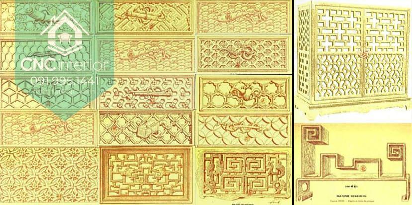 Họa tiết kỷ hà được sử dụng nhiều trong phong cách kiến trúc Đông Dương