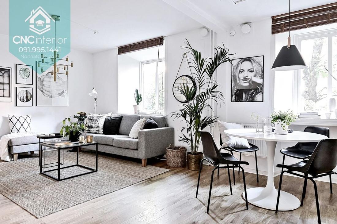 Chung cư phong cách nội thất Bắc Âu tận dụng cửa sổ để lấy ánh sáng tự nhiên