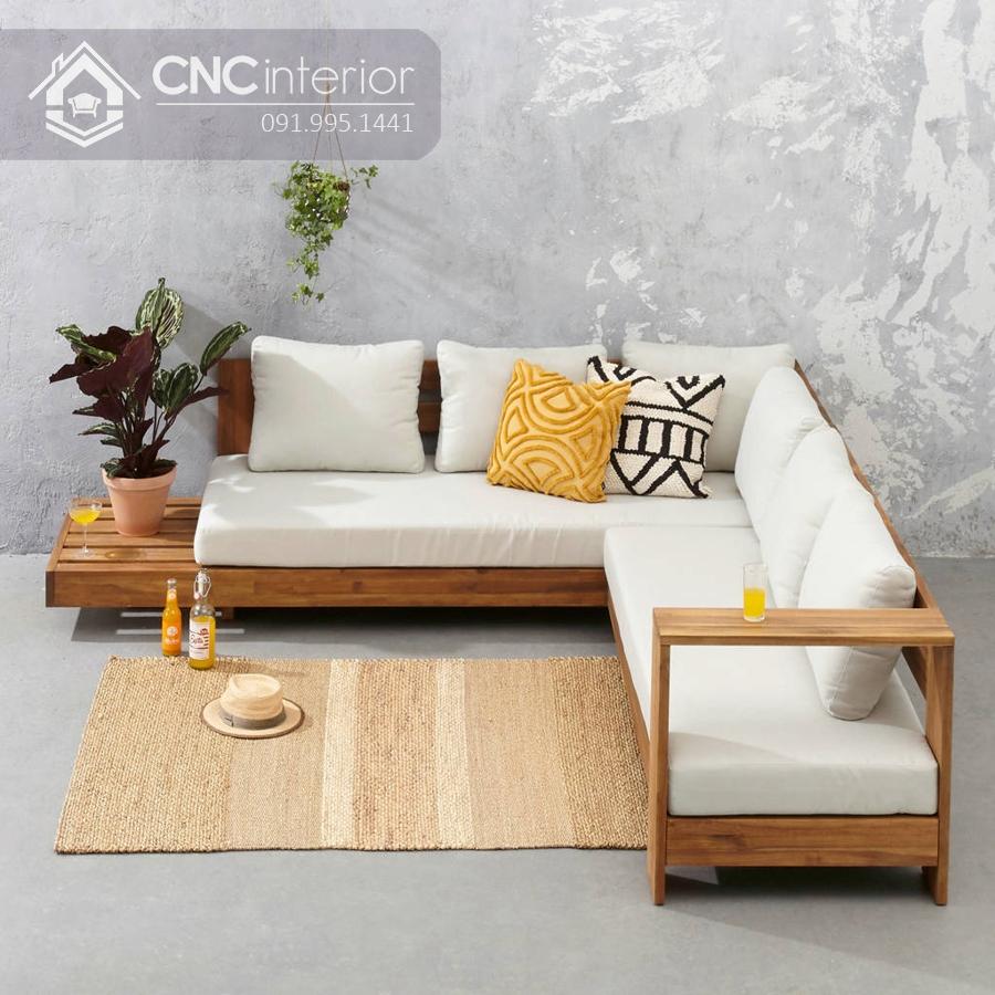 Sofa gỗ góc chữ L tiện dụng CNC 02