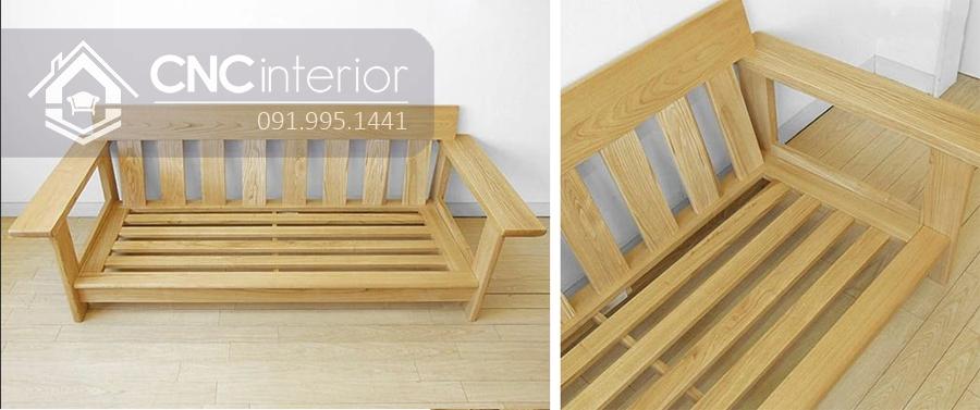 Sofa gỗ tự nhiên bền đẹp gọn gàng CNC 05 2