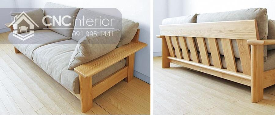 Sofa gỗ tự nhiên bền đẹp gọn gàng CNC 05 3
