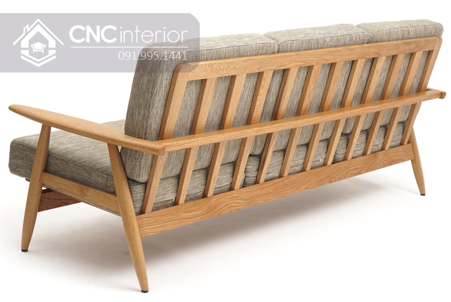Ghế gỗ sofa phòng khách đẹp bắt mắt CNC 06 1