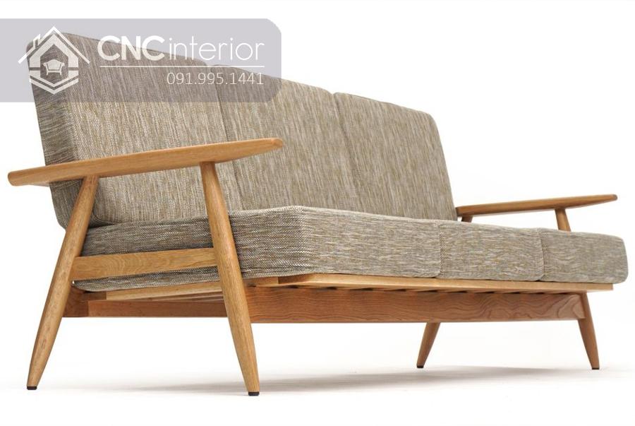 Ghế gỗ sofa phòng khách đẹp bắt mắt CNC 06
