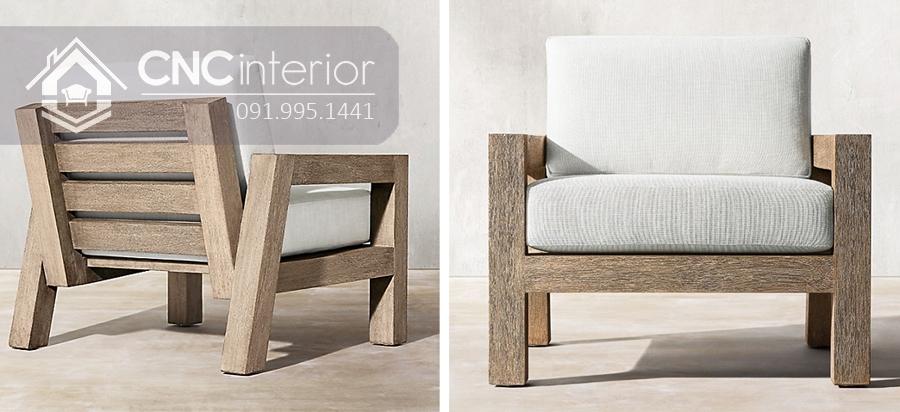 Sofa đơn nhỏ gọn bằng gỗ CNC 04
