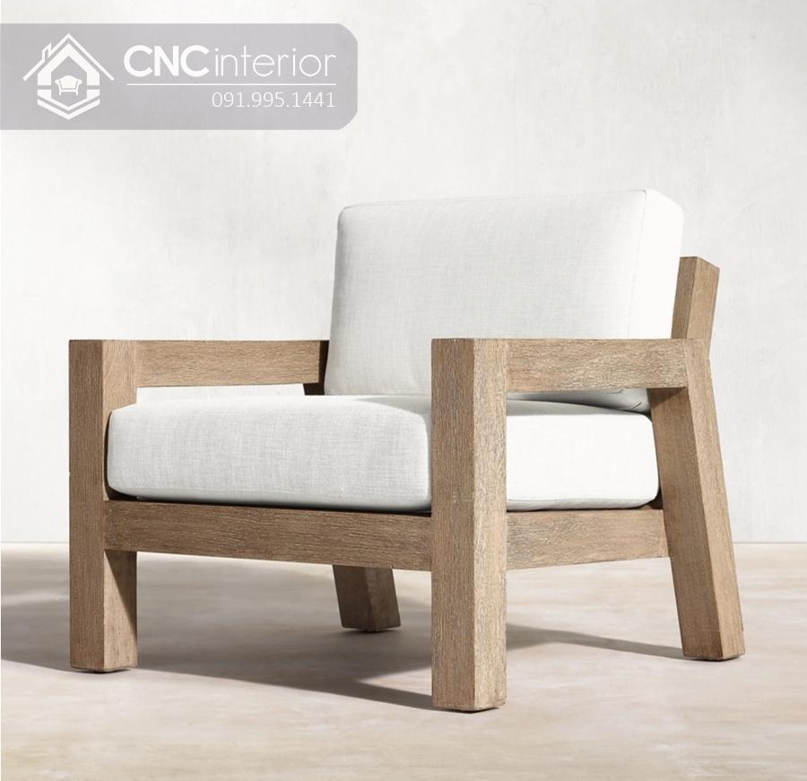 Sofa đơn nhỏ gọn bằng gỗ CNC 04 1