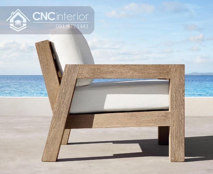 Sofa đơn nhỏ gọn bằng gỗ CNC 04 2